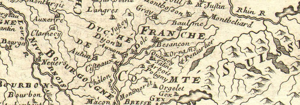 'CARTE GENERALE DE FRANCE' showing towns, rivers & provinces. MALLET 1683 map